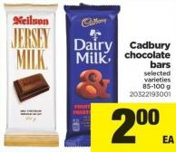 Cadbury Chocolate Bars - 85-100 G
