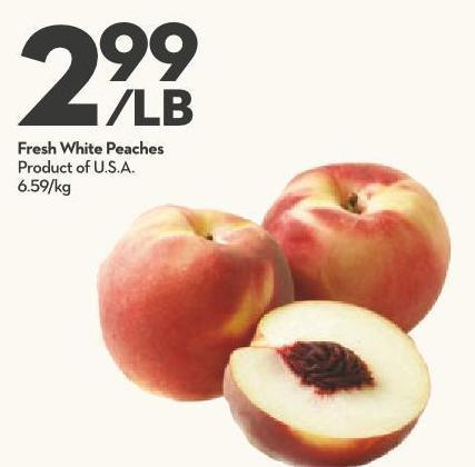 Fresh White Peaches Product of U.S.A.