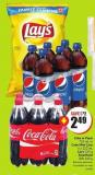 Coke or Pepsi 710 mL or Coke Mini Cans 6 X 222 mL Lay's 235 g Smartfood 200-220 g