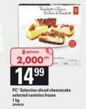 PC Selection Sliced Cheesecake - 1 Kg