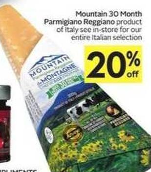 Mountain 30 Month Parmigiano Reggiano