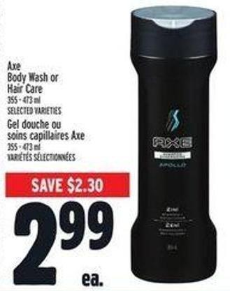 Axe Body Wash Or Hair Care