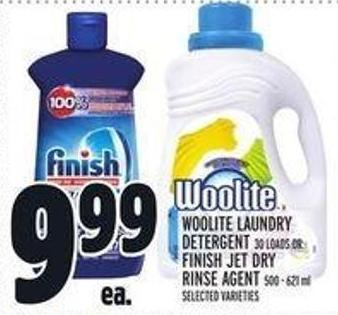 Woolite Laundry Detergent 30 Loads or Finish Jet Dry Rinse Agent