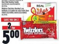 Hershey's Twizzlers Licorice Or Dare Real Gummy Candy