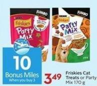 Purina Friskies Cat Treats or Party Mix 170 g - 10 Air Miles Bonus Miles