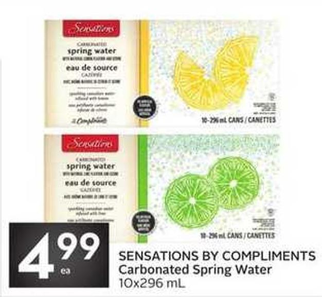 Sensations By Compliments Carbonated Spring Water