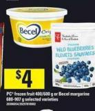 PC Frozen Fruit - 400/600 G Or Becel Margarine - 680-907 G