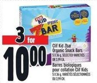 Clif Kid Zbar Organic Snack Bars