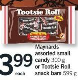 Maynards Assorted Small Candy 300 G Or Tootsie Roll Snack Bars 599 G