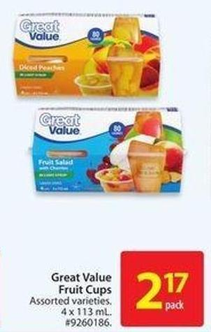 Great Value Fruit Cups