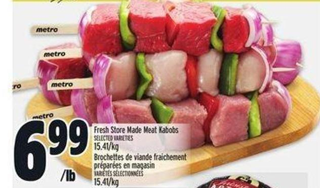 Fresh Store Made Meat Kabobs
