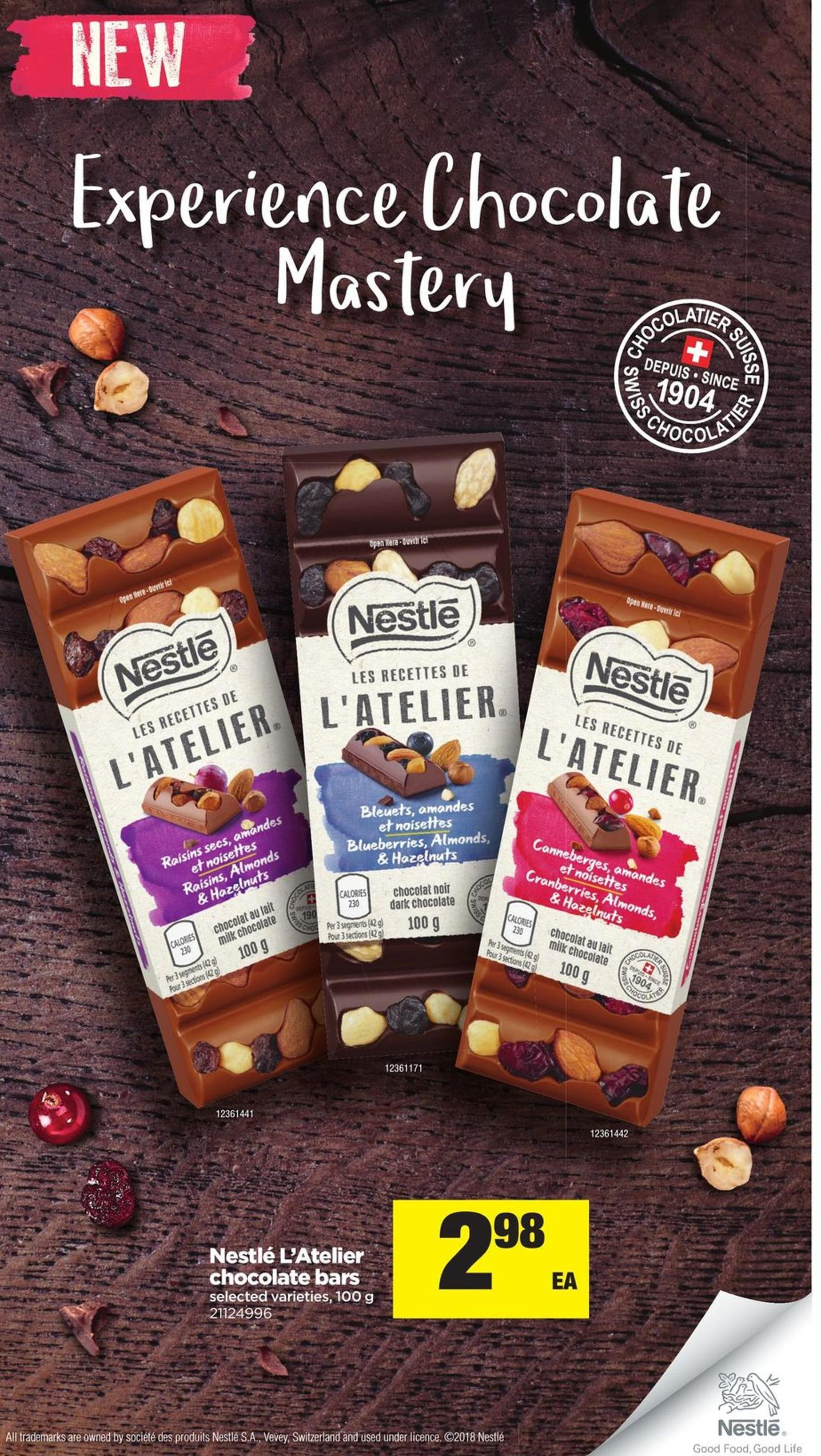 Nestlé L'atelier Chocolate Bars - 100 g