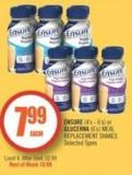 Ensure (4's - 6's) or Glucerna (6's) Meal Replacement Shakes