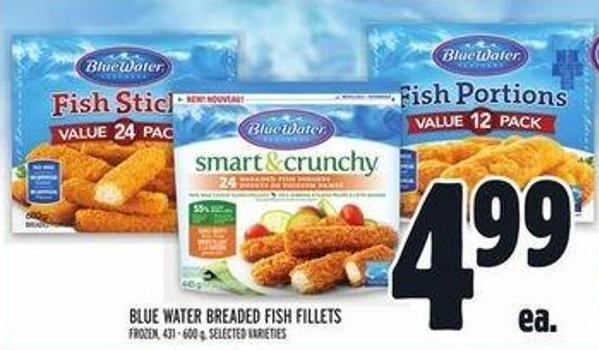Blue Water Breaded Fish Fillets
