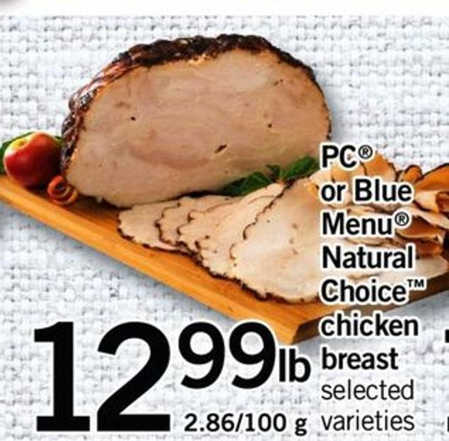 PC Or Blue Menu Natural Choice Chicken Breast - 2.86/100 G