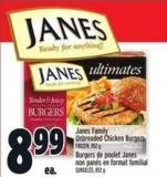 Janes Family Unbreaded Chicken Burgers