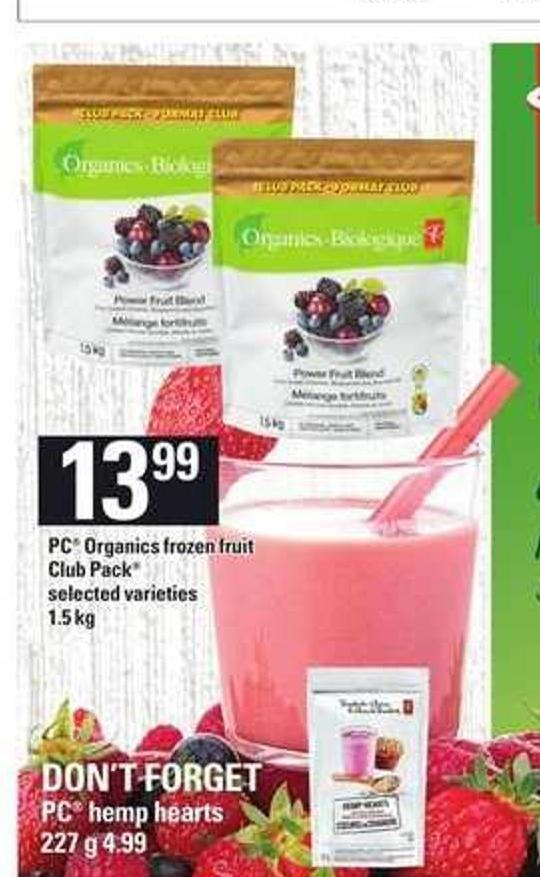 PC Organics Frozen Fruit Club Pack - 1.5 Kg