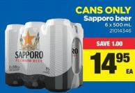 Sapporo Beer - 6 X 500 mL