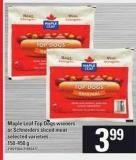 Maple Leaf Top Dogs Wieners Or Schneiders Sliced Meat - 150-450 G
