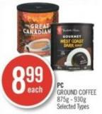 PC Ground Coffee 875g - 930g
