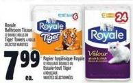 Royale Bathroom Tissue Or Tiger Towels 12 Double Rolls Or 6 Rolls