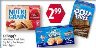 Kellogg's Nutri-grain Snack Bars - Pop Tarts - Rice Krispies