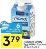 Naturegg Simply Egg Whites - 6 Air Miles Bonus Miles