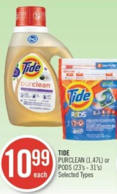 Tide Purclean (1.47l) or PODS (23's - 31's)