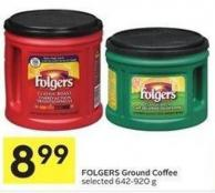 Folgers Ground Coffee Selected 642-920 g