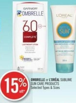 Ombrelle or L'oréal Sublime Sun Care Products
