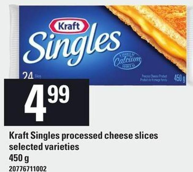 Kraft Singles Processed Cheese Slices - 450 g