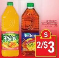 Fruité Or Tetley Drinks 2 L