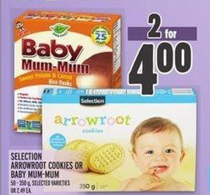 Selection Arrowroot Cookies Or Baby Mum-mum