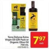 Terra Delyssa Extra Virgin Oil Gift Pack or Organic Olive Oil 750 mL