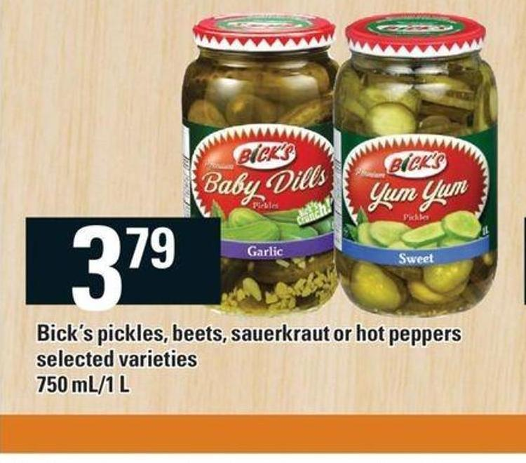 Bick's Pickles - Beets - Sauerkraut Or Hot Peppers - 750 Ml/1 L