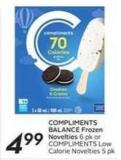 Compliments Balance Frozen Novelties