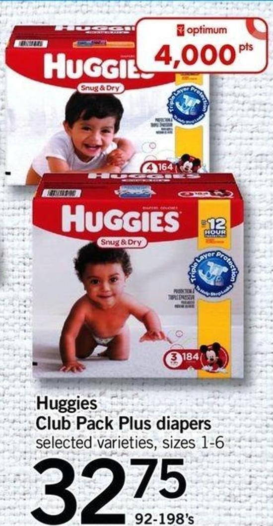 Huggies Club Pack Plus Diapers - 92-198's