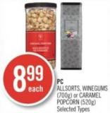 PC Allsorts - Winegums (700g) or Caramel Popcorn (520g)