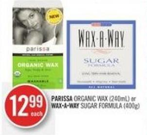 Parissa Organic Wax (240ml) or Waxaway Sugar Formula (400g)