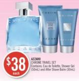 Azzaro Chrome Travel Set