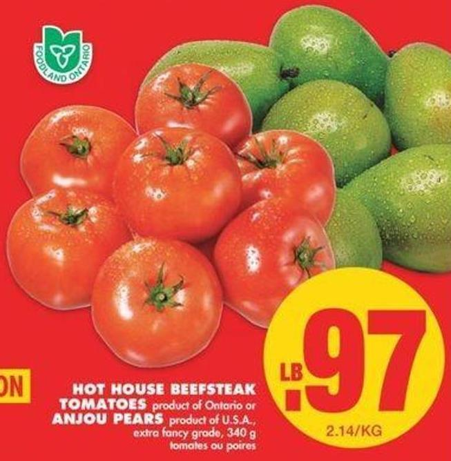 Hot House Beefsteak Tomatoes Or Anjou Pears - 340g