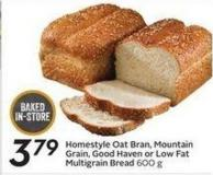 Homestyle Oat Bran - Mountain Grain - Good Haven or Low Fat Multigrain Bread