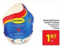 Butterball Frozen Grade A Turkeys