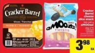 Cracker Barrel Cheese Slice Snack - 200-240 G Amooza! - Pkg Of 12