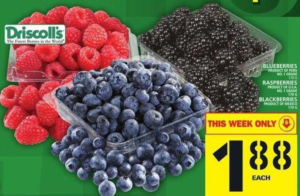 Blueberries Or Raspberries Or Blackberries