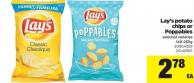 Lay's Potato Chips Or Poppables - 140-255g