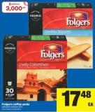 Folgers Coffee PODS - 30's