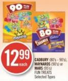 Cadbury (80's - 90's) - Maynards (90's) or Mars (95's) Fun Treats