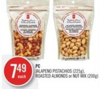 PC Jalapeno Pistachios (225g) - Roasted Almonds or Nut Mix (200g)