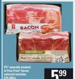 PC Naturally Smoked Or Free From Bacon - 375-500 g